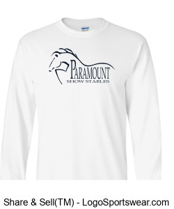 Men's White Longsleeve T Design Zoom