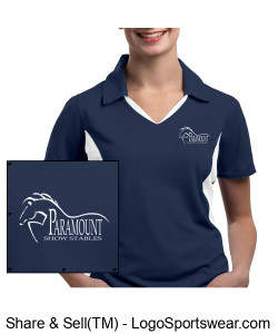 Ladies Colorblock Polo (Embroidered) Design Zoom